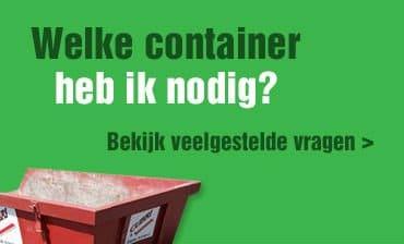 Afvalcontainer nodig?